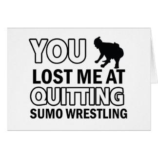 Sumo-Wrestlingentwürfe Karte