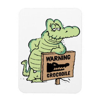 Sumpf-alter Mann Croc Kühlschrankmagnet Magnet