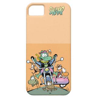 Sumpf-brennender Gummi auf zwei Rädern iPhone 5 Cover
