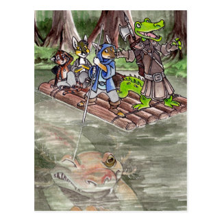 Sumpf-Floss Postkarte