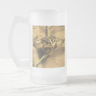 Sumpf-Frosch Mattglas Bierglas