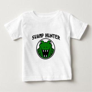Sumpf-Jäger-Alligatorsymbol Baby T-shirt