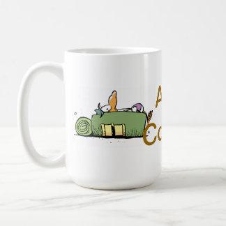 Sumpf-lustiger Kaffee-Cartoon Kaffeetasse