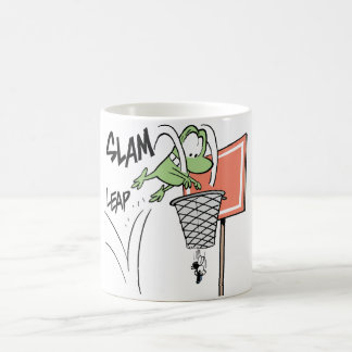 Sumpf Mort der Frosch-Basketball-Cartoon Kaffeetasse