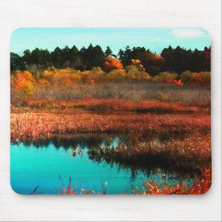 Sumpf und Bäume in der Herbst-Kanada-Mausunterlage Mauspads