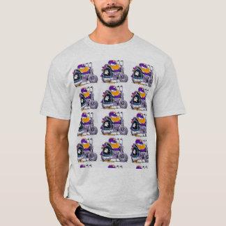 Sumpf-wilde Enten-Motorrad-Cartoon T-Shirt