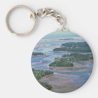 Sumpfgebiet, Südslough gurrt Bucht ODER Standard Runder Schlüsselanhänger