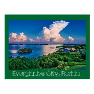 Sumpfgebiete Stadt, Florida, USA Postkarte