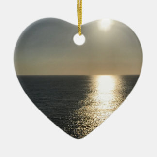 Sun auf Wasser Keramik Herz-Ornament