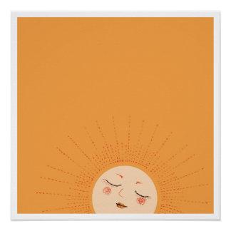 Sun - Aufstieg und Shine (Abend) Perfektes Poster