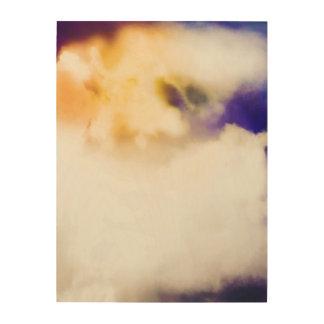 Sun durch die Wolken Holzdruck