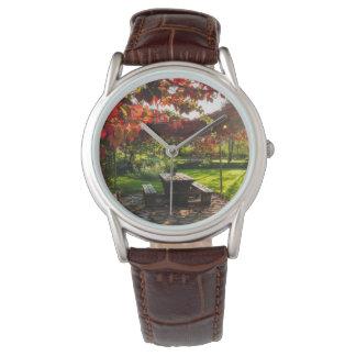 Sun durch Herbst-Blätter, Kroatien Armbanduhr