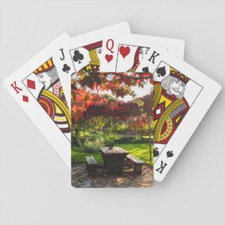 Sun durch Herbst-Blätter, Kroatien Spielkarten