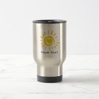 Sun; gebürsteter Metallblick Reisebecher