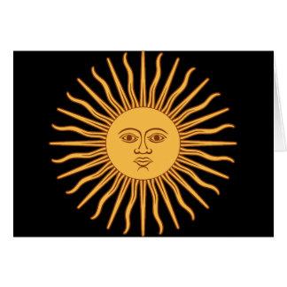 Sun Grußkarte