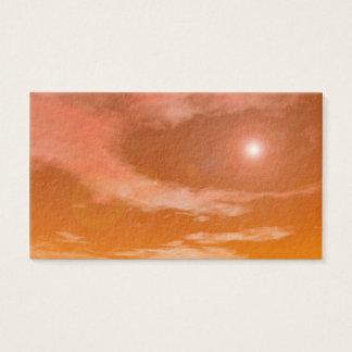 Sun im Sonnenunterganghimmelhintergrund - 3D Visitenkarte