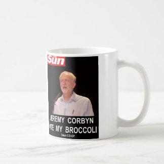 Sun Jeremy Corbyn aß meinen Brokkoli Kaffeetasse