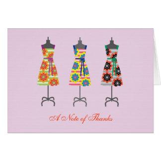 Sun-Kleid danken Ihnen Anmerkungs-Karte