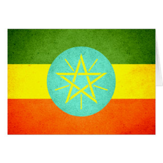 Sun küsste Äthiopien-Flagge Karte
