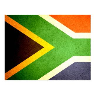 Sun küsste Südafrika-Flagge Postkarte