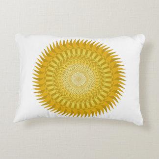 Sun-Mandala im Gelb Dekokissen