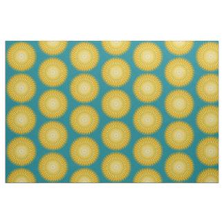 Sun-Mandala im Gelb Stoff