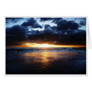 Sun, Meer und Sand Grußkarte