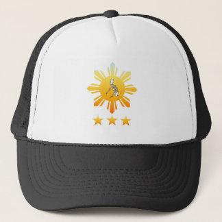 Sun mit PU-Karten-Hüten Truckerkappe