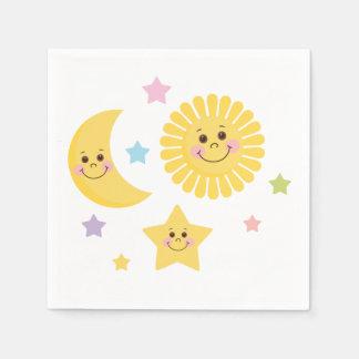 Sun, Mond und Sterne Serviette