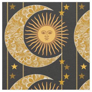Sun, Mond und Sterne Stoff