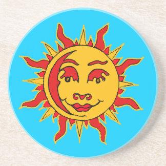 Sun-Motiv-Sandstein-Untersetzer Sandstein Untersetzer