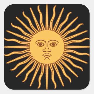 Sun Quadratischer Aufkleber