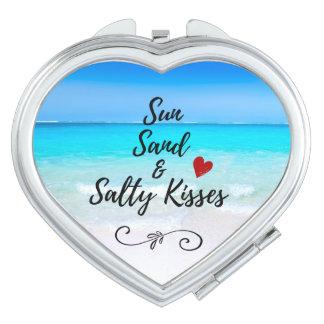 Sun-Sand und salzige Kuss-tropischer Strand Schminkspiegel