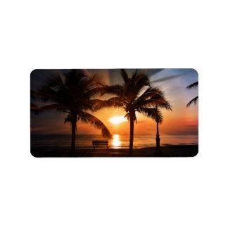 Sun-Sonnenuntergang-Sonnenaufgang Adressaufkleber