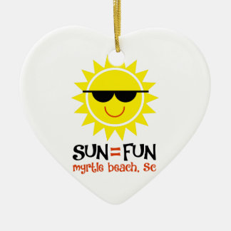 Sun = Spaß Keramik Ornament
