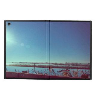 Sun-Strahlen über der blauen Lagune