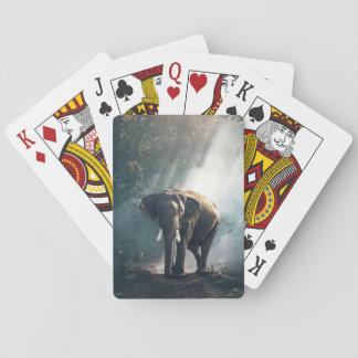 Sun strich Elefanten in Waldspielkarten Spielkarten