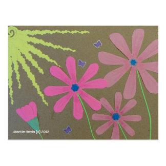 Sun u. Blumen - Einklebebuch Postkarte