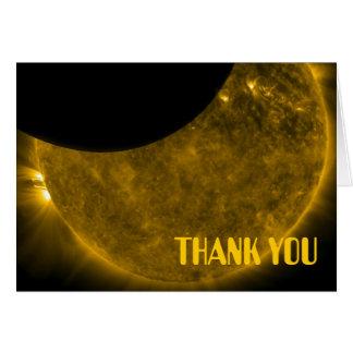 Sun u. Mond danken Ihnen Anmerkungs-Karte Karte