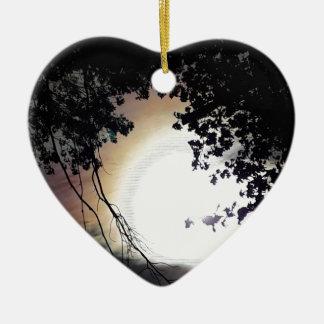 Sun und Button-Eichen Keramik Ornament