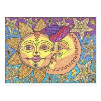 Sun und Mond 2 Postkarte