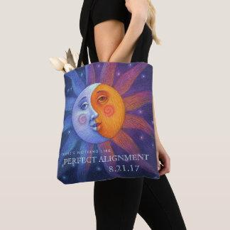 Sun und Mond-Eklipse-perfekte Ausrichtung Tasche