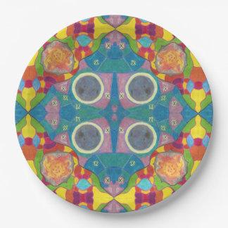 Sun und Mond-gemustertes Set PapierTeller