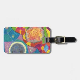 Sun und Mond-stilisierter Gepäckanhänger