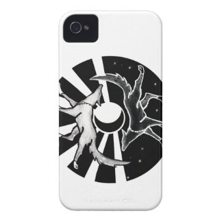 Sun und Mond-Wölfe iPhone 4 Cover