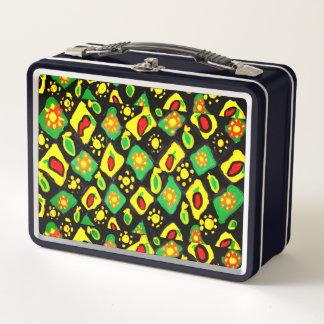 Sun und Paprikaschoten Metall Lunch Box