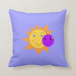Sun und smiley kissen