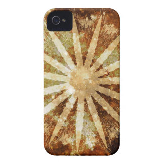 Sun-Universum-kosmische warme goldene Brown-Farben Case-Mate iPhone 4 Hülle