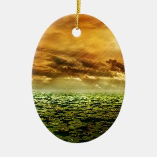 Sunbeam-Nachglut Keramik Ornament