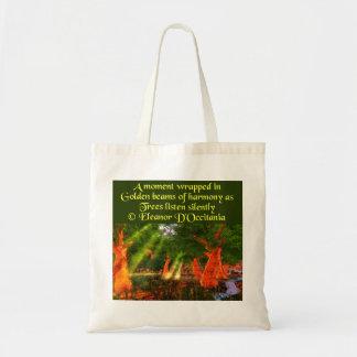 Sunbeams der Harmonie-Poesie-Budget-Taschen-Tasche Tragetasche